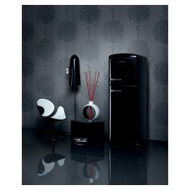 Black refridgerator Gorenje Retro Chic Collection.