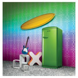 Lime refridgerator Gorenje Retro Funky Collection.