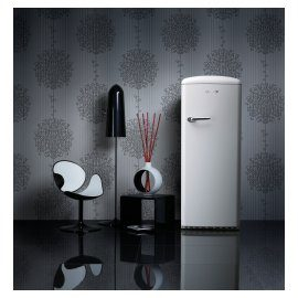 Cult Retro Fridge - Elegant and refined in Snow White