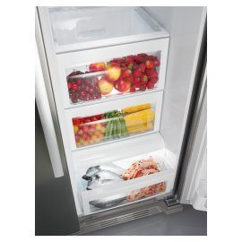Gorenje side by side fridge freezers with LED lighting for lastingly fresh fruit and vegetables.