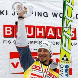 Ski jumper Robert Kranjec winns the small crystal globe