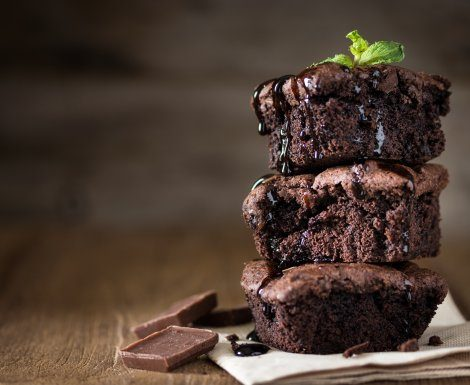 Chocolate brownies with chickpeas