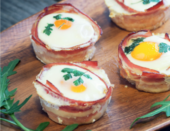 Cute bacon cheese egg muffin cups in just 15 minutes