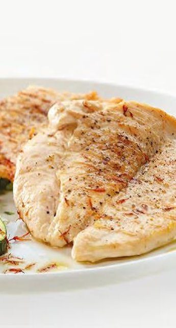 Chicken breast with curry