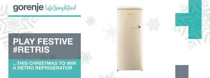 Win a Gorenje Retro refrigerator by playing festive #Retris