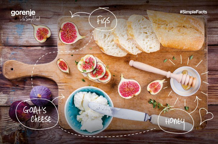 #SimpleFacts food board – Goats' Cheese, Figs and Honey
