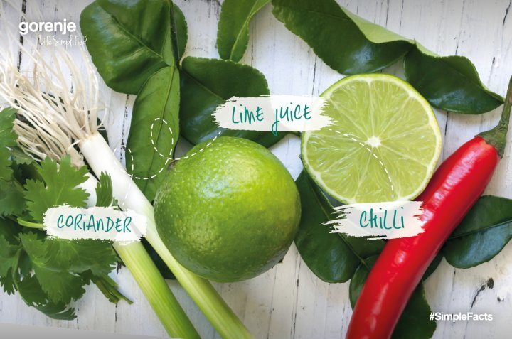 #SimpleFacts food board – Coriander, Lime and Chilli