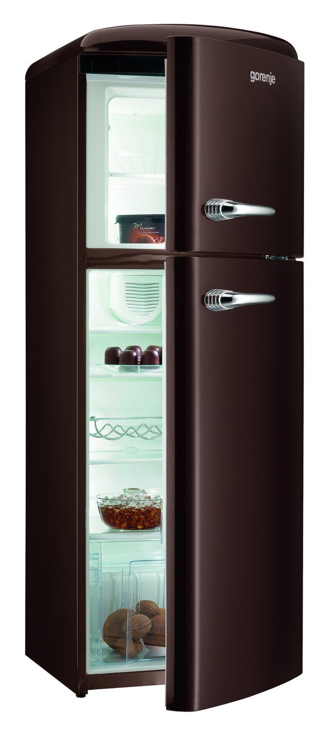 refrigerator freezer combo of the gorenje retro collection. Black Bedroom Furniture Sets. Home Design Ideas