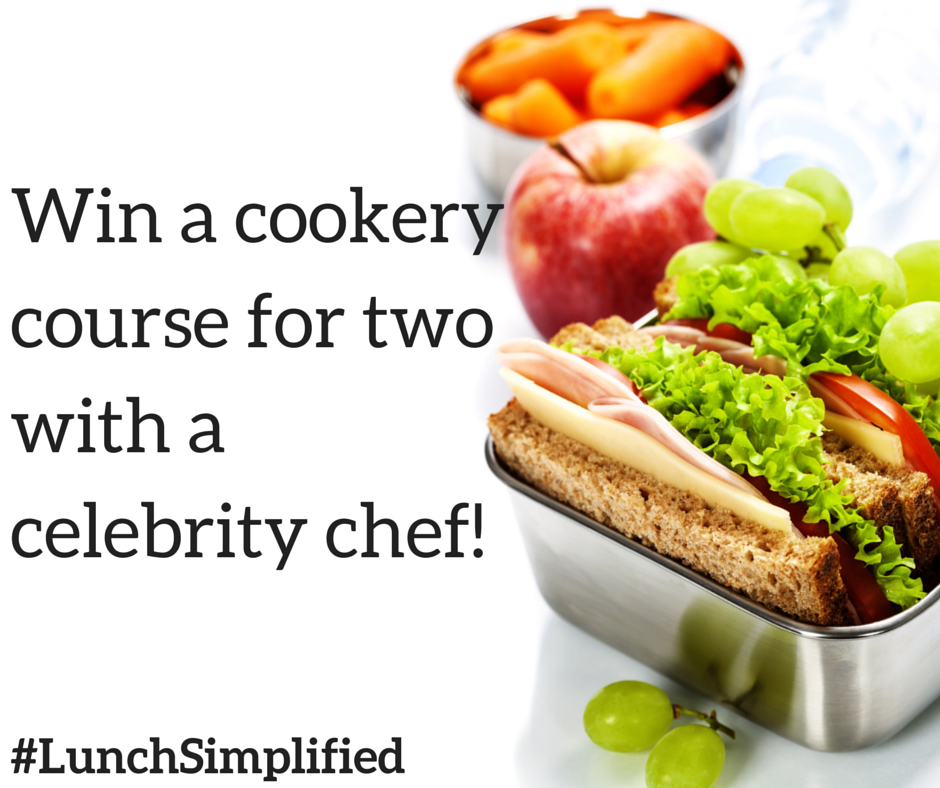 lunchsimplified win a cookery course with a celebrity. Black Bedroom Furniture Sets. Home Design Ideas