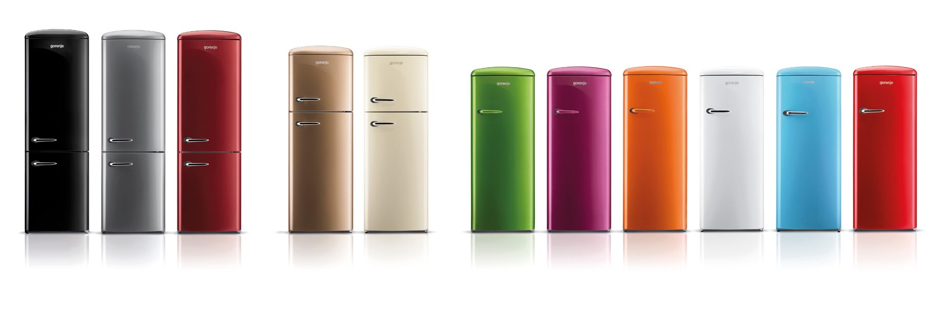 Gorenje retro collection gorenje for Kühl gefrierkombination retro look