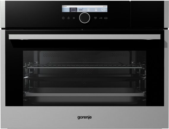 Built-in compact steam oven BCS589S20X