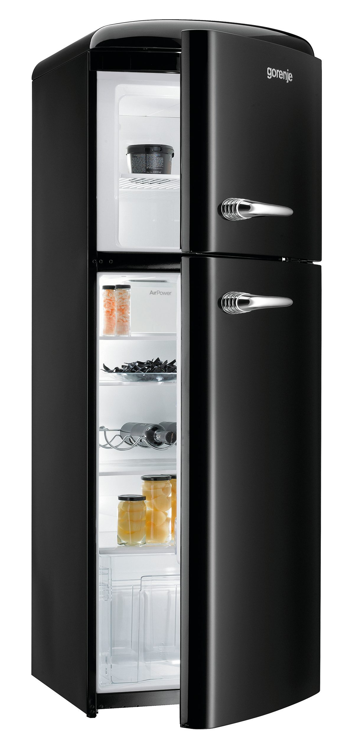 Freestanding fridge freezer rf60309obk gorenje - Refrigerateur congelateur noir ...