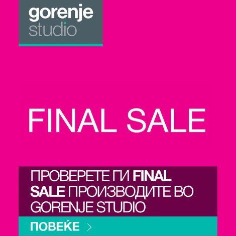 Final Sale Gorenje Studio
