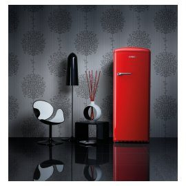 Cult Retro Fridge - Energetic in Fire Red