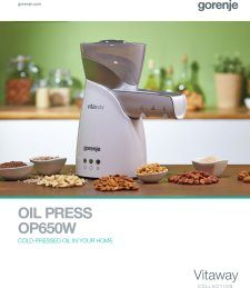 Magazine listing - Oil press brochure