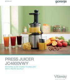 Magazine listing - Press juicer brochure
