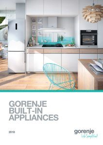 Magazine listing - Gorenje Built-in appliances 2018