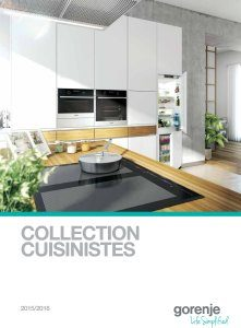 Liste de magasin - Collection Gorenje Cuisinistes 2015/2016