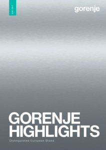 Magazine listing - Gorenje highlights 2016-2017
