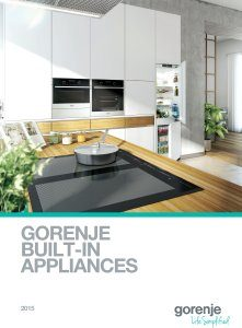 Magazine listing - Gorenje built-in appliances 2015