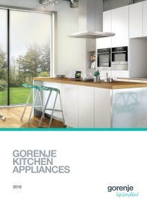 Magazine listing - Gorenje Kitchen appliances 2018