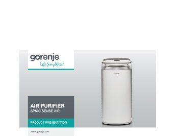 Air purifier AP500 Sense Air presentation