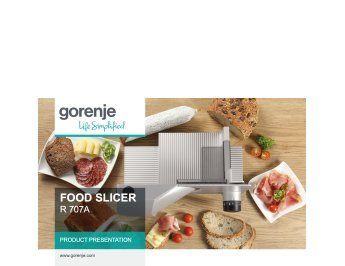 Food slicer R707A presentation
