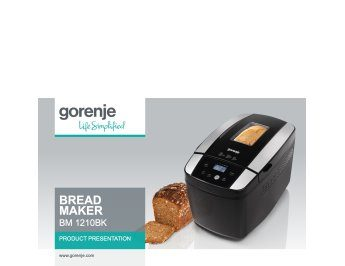 Bread maker BM1210BK presentation