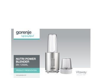 Nutri Power blender BN1200AL presentation