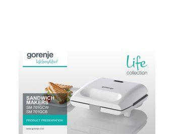 Sandwich makers SM701GCB / SM701GCW presentation