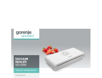 Vacuum sealer VS120W presentation