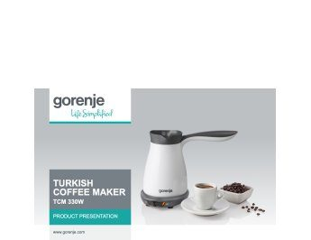 Turkish coffee maker TCM330W presentation
