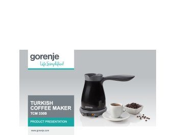 Turkish coffee maker TCM330B presentation