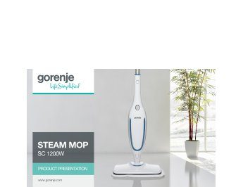 Steam mop SC1200W presentation