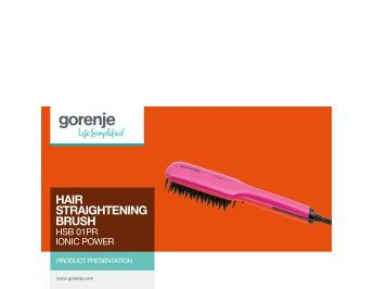 Beauty HSB01PR hair straightening brush presentation