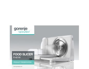 Food slicer R401W presentation