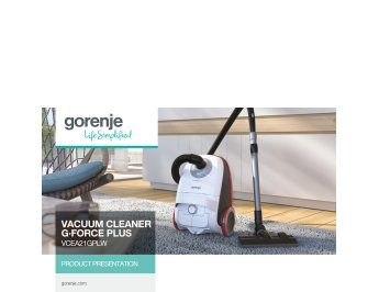 Vacuum cleaner G·Force Plus VCEA21GPLW