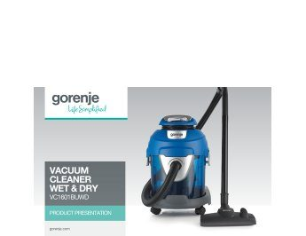 Vacuum cleaner Wet & dry VC1601BUWD presentation