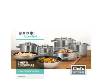 Chef's collection cookware presentation