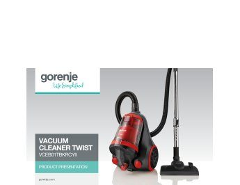 Vacuum cleaner Twist VCEB01TBKRCYII presentation
