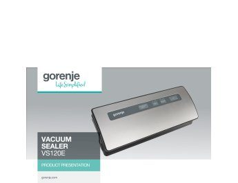 Vacuum sealer VS120E presentation