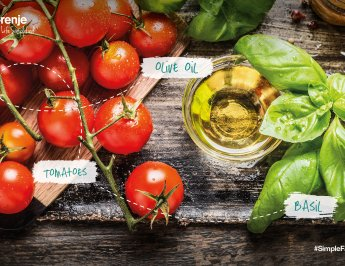 #SimpleFacts food board – Tomato, Basil and Olive Oil