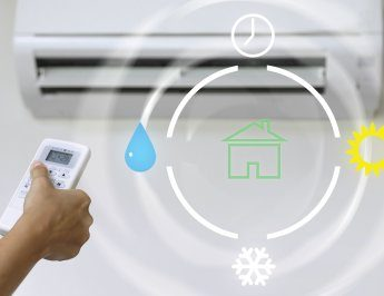 Cooling and heating with air conditioners