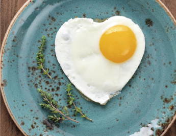 4 easy steps to making a heart shaped egg