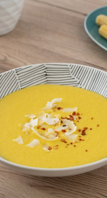 Corn and coconut soup