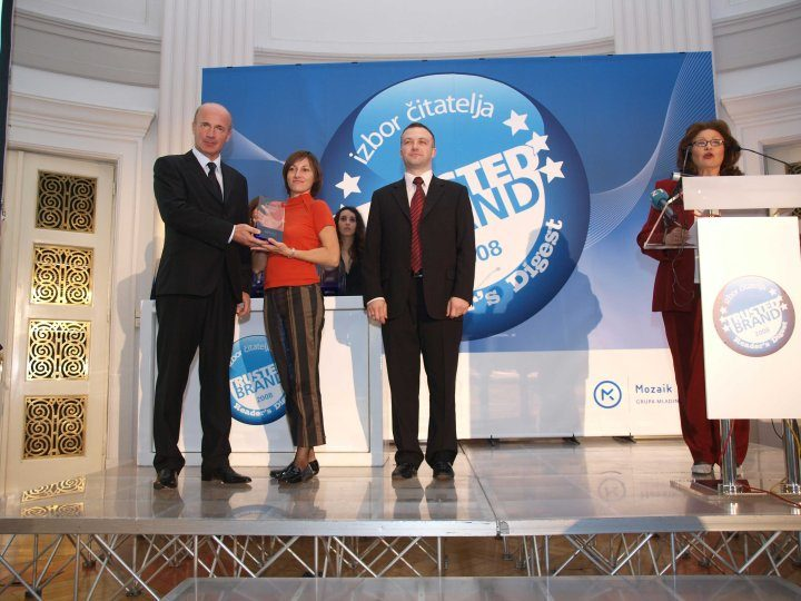 Trusted Brand 2008 Award in Croatia