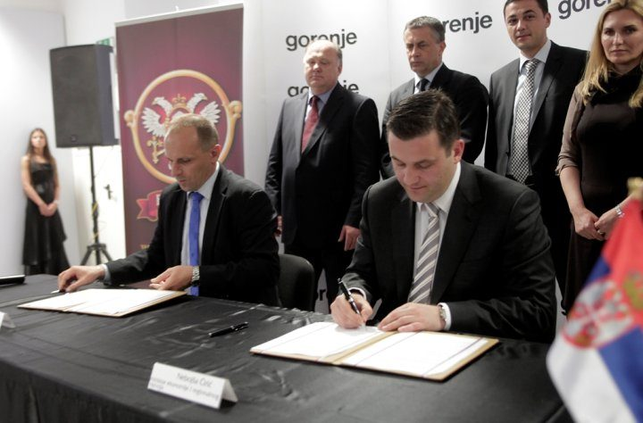Gorenje granted financial incentive by the Serbian Government for the Valjevo plant