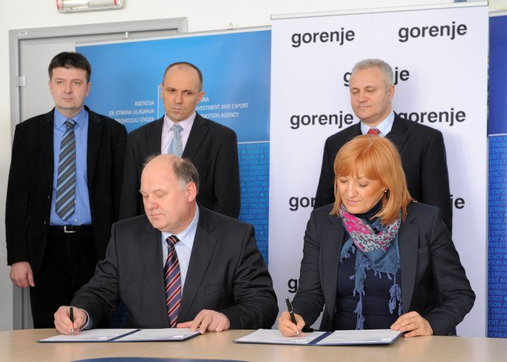 Gorenje and Serbian government sign a Memorandum of Understanding