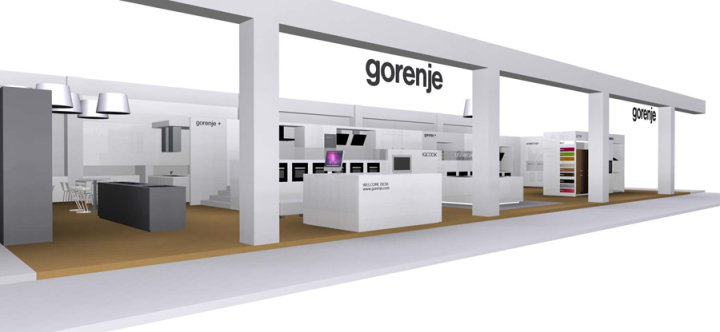 Gorenje Munich company at Küchenmeile@ MAZ 2013 fair