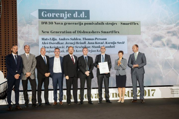 Gorenje's SmartFlex dishwashers win gold award for the best Slovenian innovations